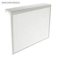 Экран на чугунный радиатор, 590 х 610 х 142 мм, 6 секций, металлический, белый