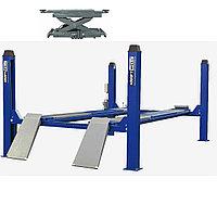 Комплект для сход-развала г/п 6.5 тонн KraftWell KRW6.5WA_blue+KRWJ7P