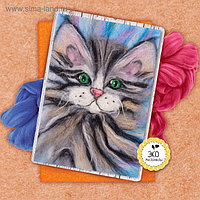 Картина из шерсти «Котёнок», А5