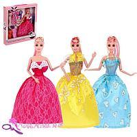 Кукла-модель шарнирная 'Кристина' с набором платьев, с аксессуаром МИКС