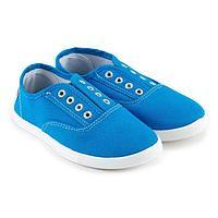 Слипоны детские, цвет голубой, размер 32