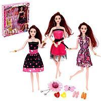 Кукла-модель шарнирная 'Синди' с набором платьев, с аксессуаром, МИКС