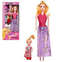 Кукла-модель 'Рита' с малышкой, с набором платьев, МИКС