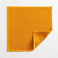 Полотенце махровое Экономь и Я 30х30 см, цв. горчичный, 100 хл, 260 гр/м2 (комплект из 4 шт.)