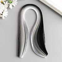 Полоски для квиллинга 100 полосок плотность 120 гр 'От белого к чёрному' ш. 0,5 см дл. 39 см 51773