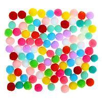 Набор текстильных деталей для декора 'Бомбошки' 100 шт. набор, размер 1 шт. 0,6 см, цвет МИКС