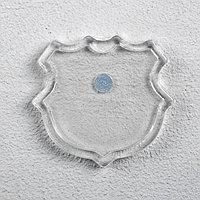 Заготовка магнита в форме герба, набор из 2 деталей, вставка 3.7 x 3.5 см (комплект из 10 шт.)