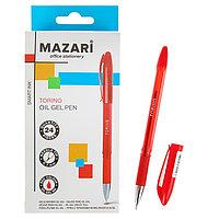 Ручка шариковая Mazari Torino, 0.7 мм, красная, резиновый упор, на масляной основе (комплект из 24 шт.)