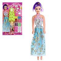 Кукла-модель 'Оля' с набором платьев, обуви с аксессуарами, МИКС