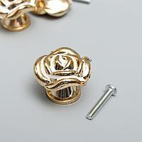 Ручка для шкатулки пластик 'Роза' золото 2,6х3,3х3,3 см (комплект из 3 шт.)