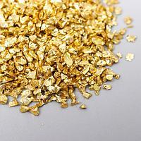 Декор стекло 'Слюда жёлтое золото' 20 гр