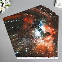 Бумага для скрапбукинга 'Mr.Painter. Ты моя вселенная 2' 190 г/м3, 30.5х30.5 см (комплект из 10 шт.)