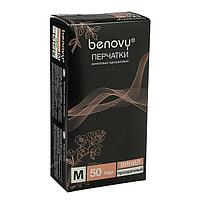 Перчатки виниловые Benovy M, прозрачные, 50 пар уп. (комплект из 50 шт.)