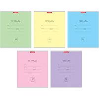 Тетрадь 12 листов в линейку 'Классика', обложка мелованный картон, блок офсет, МИКС (1 вид в спайке) (комплект
