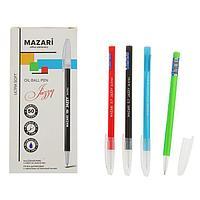 Ручка шариковая Mazari Jazzy Ultra Soft, 0.7 мм, синяя, корпус МИКС (комплект из 50 шт.)