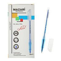 Ручка шариковая Mazari Nebel Ultra Soft, 1.0 мм, синяя, на масляной основе (комплект из 50 шт.)