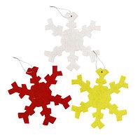 Основа для творчества - ёлочное украшение 'Снежинки' набор 3 шт., размер 1 шт 9,5см, цвета МИКС