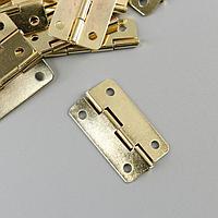 Петля для шкатулки с закругленными углами 1,6х3 см В-016 (комплект из 30 шт.)
