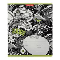 Тетрадь 18 листов в клетку Dinosaur Park, обложка мелованный картон, блок офсет (комплект из 10 шт.)