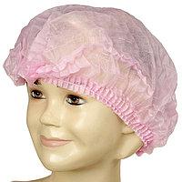 Медицинская шапочка Шарлотта Elegreen, розовая, 10 г/м2 (комплект из 100 шт.)