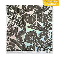 Бумага для скрапбукинга с голографическим фольгированием 'Метаморфозы', 20 x 21.5 см, 250 г/м (комплект из 10