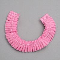 Шапочка медицинская 'Шарлотта', розовая, 10 гр/м2 (комплект из 100 шт.)