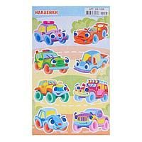 Наклейки детские 'Автомобили' УФ-лак, глиттер, игрушечные машины, 16 х 10 см (комплект из 20 шт.)