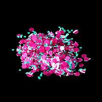 Камифубуки/крошка для декора, цвет бирюзовый/розовый (комплект из 5 шт.)