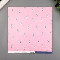 Бумага для скрапбукинга Crate Paper 'Peace Out' 30.5х30.5 см, 190 гр/м2 (комплект из 5 шт.)