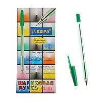 Ручка шариковая Beifa АА 927GR, металлический наконечник, стержень зеленый, узел 0.7мм (комплект из 50 шт.)
