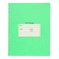 Тетрадь 12 листов в косую линейку 'Школьная', обложка мелованный картон, зелёная (комплект из 16 шт.)