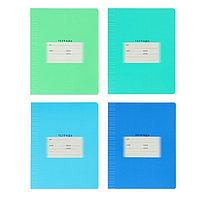 Тетрадь 12 листов в узкую линейку 'Школьная', обложка мелованный картон, блок офсет, МИКС (комплект из 16 шт.)