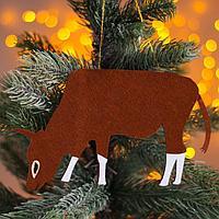 Новогодняя подвеска 'Быки и коровы' 0,2х19х10,5 см