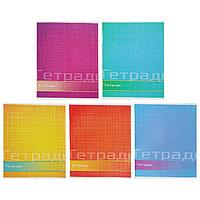 Тетрадь 48 листов в линейку 'Цвет и графика', обложка мелованная бумага, блок 2 белизна 75, МИКС (комплект из