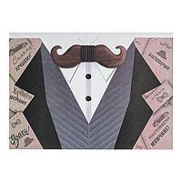 Почтовый конверт 'Пиджак' белая рубашка, голубая жилетка, А5 (комплект из 100 шт.)