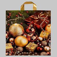 Пакет 'Подарочный пакет', полиэтиленовый с петлевой ручкой, 42х38 см, 37 мкм (комплект из 50 шт.)