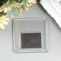 Заготовка акрилового магнита 6,3х6,3 cм прозрачный (набор 2 детали+пакет) (комплект из 25 шт.)