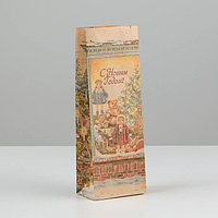 Пакет бумажный фасовочный 'Новогодняя витрина', крафт , 8 х 5 х 22,5 см (комплект из 20 шт.)