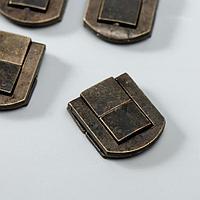 Замок металл для шкатулки 'Стиль' бронза 2,5х2 см (комплект из 4 шт.)