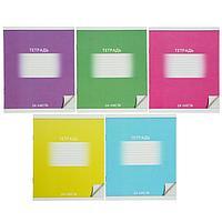 Тетрадь 24 листа в клетку 'Школьная', обложка мелованный картон, ВД-лак, блок офсет, МИКС (комплект из 20 шт.)