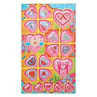 Наклейки 'Сердечки' глиттер, розовые сердца - 2 (комплект из 20 шт.)