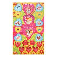 Наклейки 'Сердечки' глиттер, голубые и желтые сердца (комплект из 20 шт.)