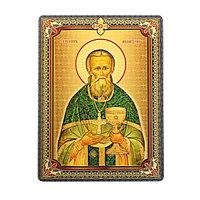 Икона 'Святой праведный Иоанн Кронштадтский', 3D, с клеящейся основой