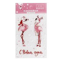 Наклейки на телефон 'Розовый фламинго', 8 x 14 см (комплект из 5 шт.)