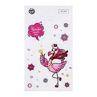 Наклейки на телефон 'Фламинго', 8 х 14 см (комплект из 5 шт.)