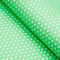 Бумага глянцевая, горох мелкий, 49 х 70 см. зелёная (комплект из 10 шт.)