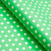 Бумага глянцевая, горох крупный, 49 х 70 см. зелёная (комплект из 10 шт.)