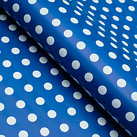 Бумага глянцевая, горох крупный, 49 х 70 см. Голубая (комплект из 10 шт.)