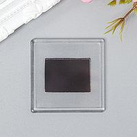 Заготовка акрилового магнита, набор из 2 деталей, 6.5x6.5 см (комплект из 10 шт.)