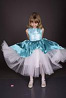 Детское для девочек осеннее фатиновое нарядное платье Weaver 3560 104-56р.
